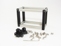 MakerBeam Corner Cubes 10mm x 10mm x 10mm Black, 12 pcs, incl. screws and Allen key