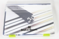 Starter Kit MakerBeam (threaded) Aluminum, Black Anodised: Beams, Brackets, Nuts and Bolts