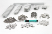 Starter Kit MakerBeam (threaded) Aluminum, Clear Anodised: Beams, Brackets, Nuts and Bolts