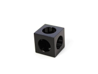 Corner Cubes black 15mm x 15mm x 15mm, 12 pcs, for MakerBeamXL and OpenBeam