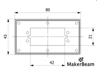 Servo Motor Bracket Stainless Steel, 1 piece, for MakerBeam
