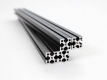 300mm MakerBeamXL, 4pcs., Aluminum Black anodised